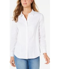 charter club petite button-down woven shirt, created for macy's