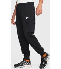 pantalón de buzo nike m nsw club pant cargo bb negro - calce regular