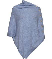 poncho gold buttons poncho regnkläder blå davida cashmere