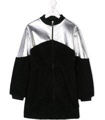 andorine zipped dress - black