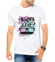 camiseta criativa urbana e agora josé masculina
