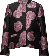 turenne jacquard blazer colbert roze ganni