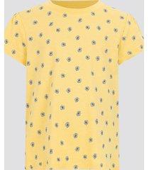 t-shirt i bomull - gul