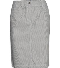skirt short woven fa knälång kjol grå gerry weber edition