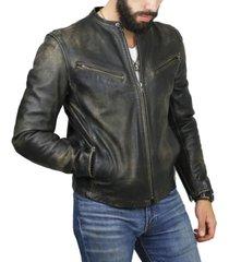 frye men's leather cafe racer jacket
