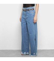 calça jeans my favorite thing (s) pantalona feminina