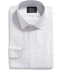 nordstrom men's shop smartcare(tm) traditional fit twill dress shirt, size 17.5 - 36 in grey infinity at nordstrom
