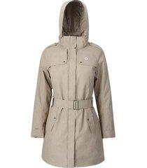 abrigo mujer aurora beige doite