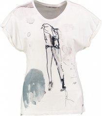 garcia t-shirt winter white met kraaltjes
