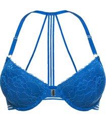 reggiseno imbottito con chiusura anteriore (blu) - bodyflirt