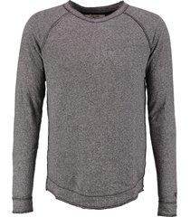 garcia long fit zachte grijze dunnere sweater