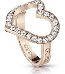anillo guess shine on me/ubr28002-54 - oro rosa