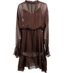 federica tosi lace ruffled dress