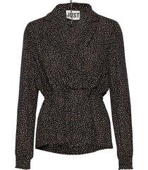 imogene wrap blouse blouse lange mouwen zwart just female