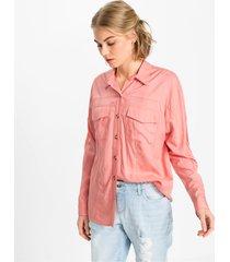 blouse met knopen in hoornlook