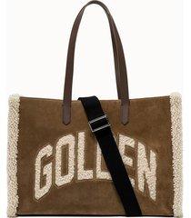 golden goose deluxe brand shopper california e-w colore beige