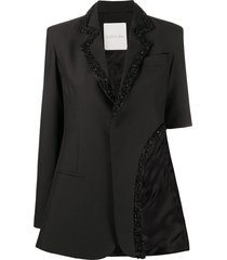 loulou sequin-embellished cutout blazer - black