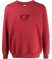c.p. company textured logo relaxed-fit sweatshirt