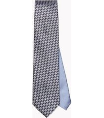 tommy hilfiger men's slim wid microprint tie blue/navy/white -