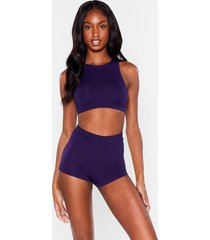 womens seamless is more ribbed panty - purple