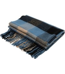 glitzhome men's and women's plaid scarf with tassels