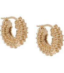 bottega veneta braided hoop earrings - gold