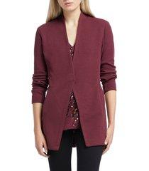 women's nic+zoe grace jogger jacket, size x-small - burgundy