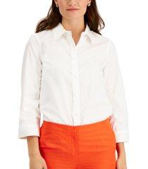 kasper cotton blouse
