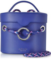 meli melo designer handbags, majorelle blue nancy shoulder bag