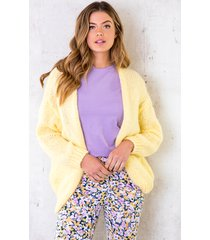 oversized knitted vest soft yellow