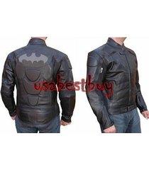 custom handmade men motorcycle leather jacket, biker leather jacket,batman style