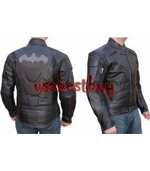 custom handmade men motorcycle leather jacket, biker leather jacket,batman style