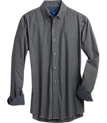 egara black & gray gingham modern fit sport shirt