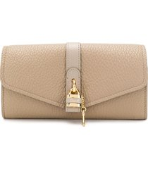 chloé aby long wallet - neutrals