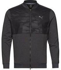 cloudspun camo jacket outerwear sport jackets svart puma golf