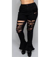 akira plus nouveau high waisted flare jeans
