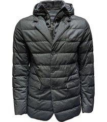 padded laminar blazer coat - outwear sizes: 48, colors: gray