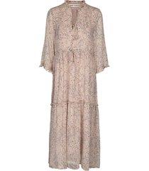 maxi jurk met print ivalo  nude