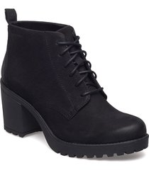 grace shoes boots ankle boots ankle boots with heel svart vagabond