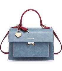 borsa a tracolla in pelle intrecciata per donna con tracolla borsa per il tempo libero borsa