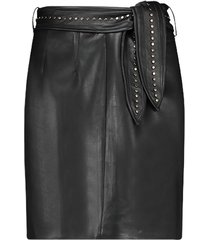 faux leather rok met studs patia  zwart