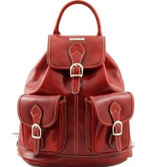 tuscany leather tl9035 tokyo - zaino in pelle rosso