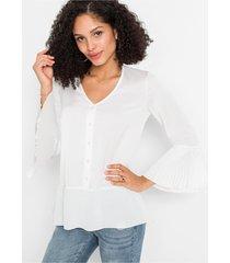 blouse met plissé