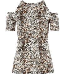 maglia con cut-out (marrone) - bodyflirt boutique