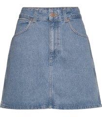 summer skirt kort kjol blå wrangler