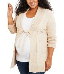 motherhood maternity plus size belted cardigan