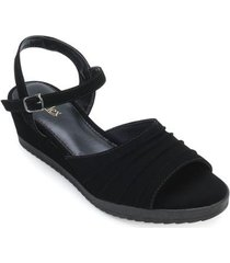sandália anabela ana flex feminino
