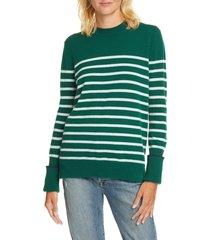 women's la ligne aaa lean lines cashmere sweater, size x-large - green