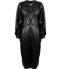 isabel marant drea mid-length dress - black