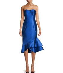 sachin & babi women's cleo strapless dress - blue - size 0